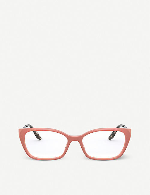 PRADA: PR 14XV rectangular acetate eyeglasses