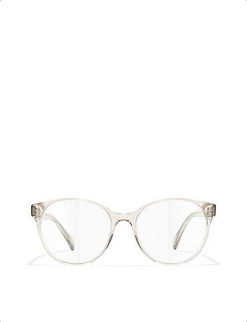 CHANEL CH3401 acetate round-frame glasses