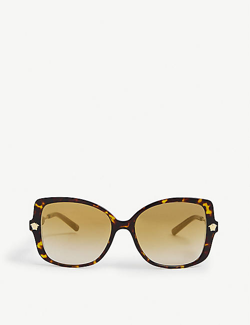 VERSACE: VE4390 butterfly-frame acetate sunglasses