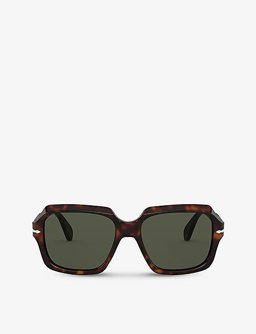 PERSOL: PO581S acetate and crystal sunglasses