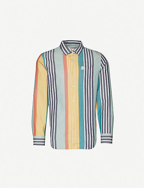 AIME LEON DORE Striped cotton Oxford shirt