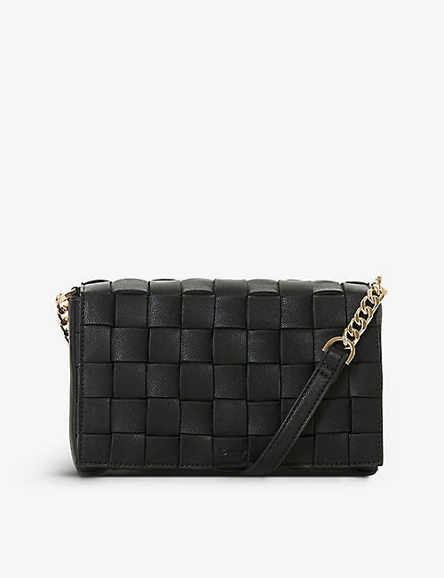 DUNE: Deaver woven faux-leather cross-body bag