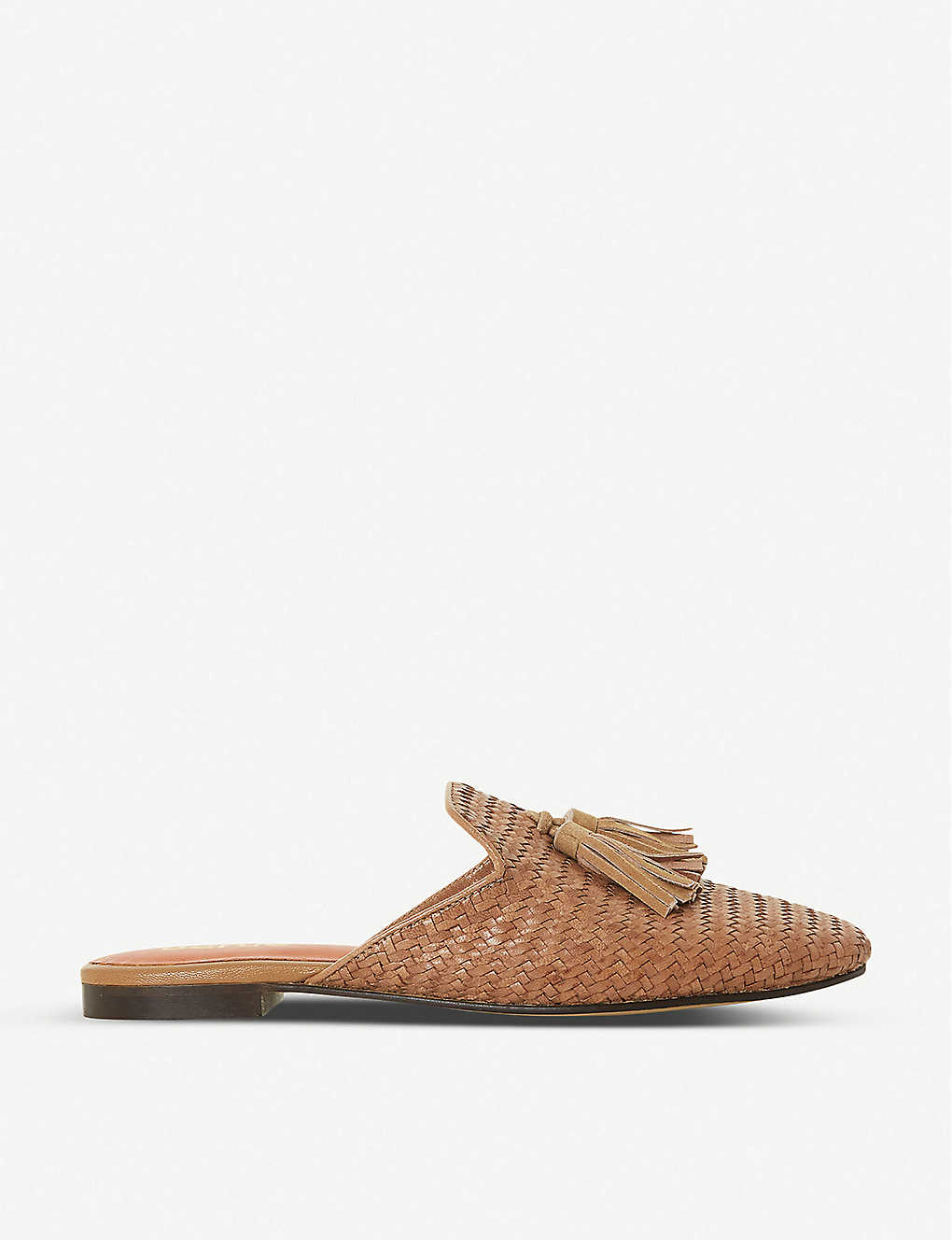 BERTIE: Gianne woven leather mules