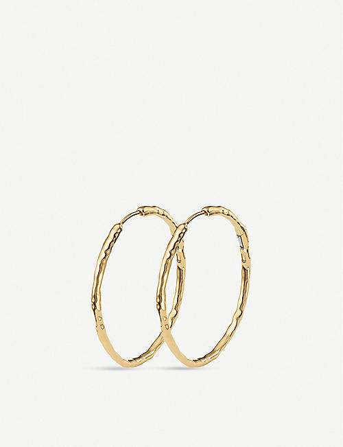 MONICA VINADER: Siren large 18ct gold-plated hoop earrings