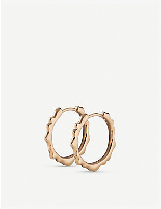 MONICA VINADER: Siren 18ct gold-plated hoop earrings