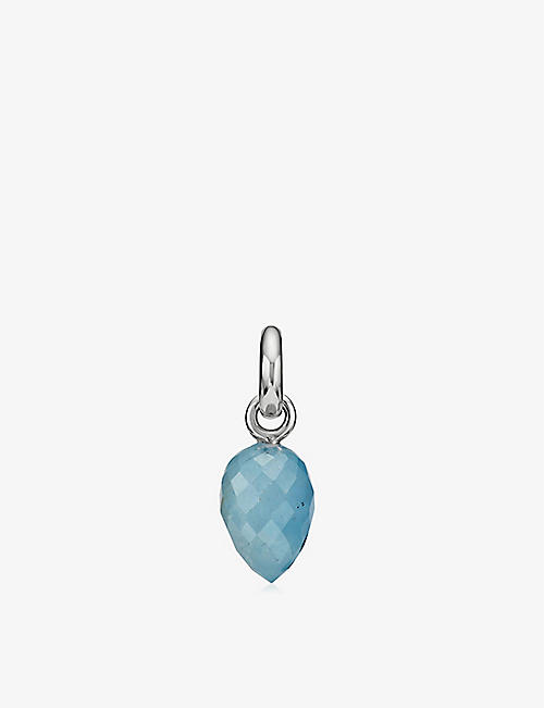 MONICA VINADER Fiji Bud mini sterling silver and aquamarine pendant