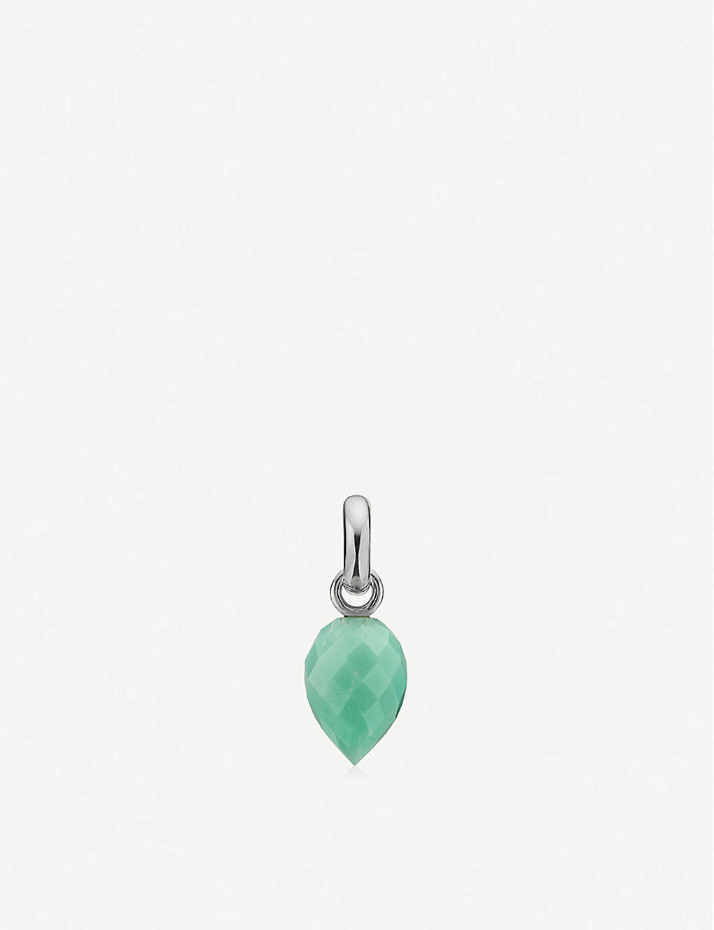 MONICA VINADER: Fiji Bud mini sterling silver and chrysoprase pendant