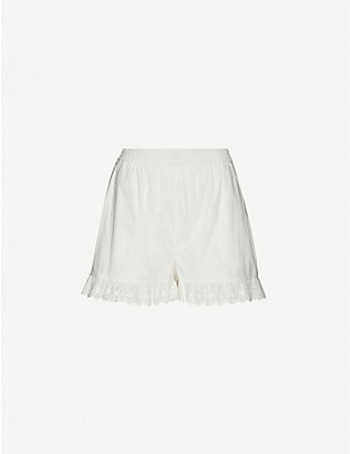 DESIGNERS REMIX: Sandra high-rise organic cotton shorts