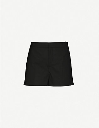 DESIGNERS REMIX: Marley high-rise stretch-twill shorts
