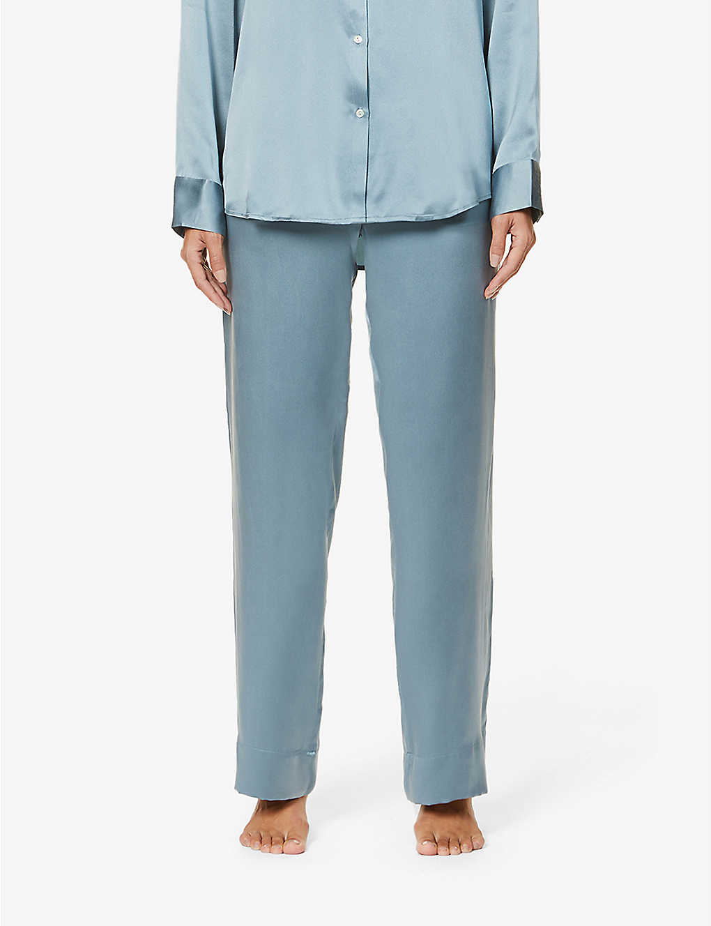 ASCENO: London silk pyjama bottoms