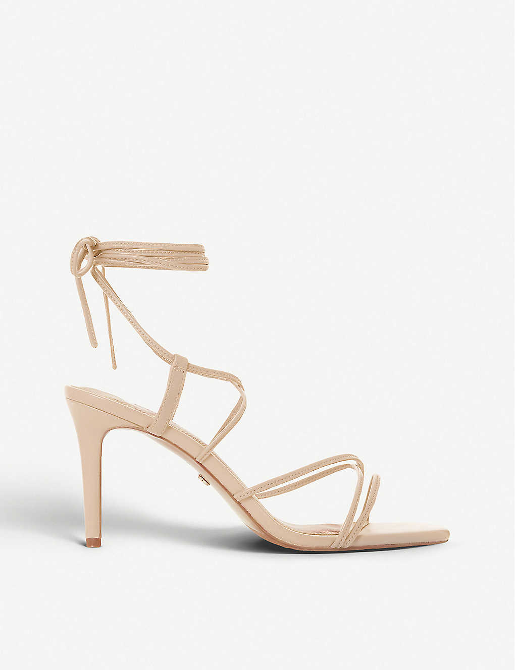 DUNE: Monique lace-up leather heeled sandals