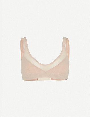 S BY SLOGGI: Oxygene Infinite scoop-neck stretch-woven bra