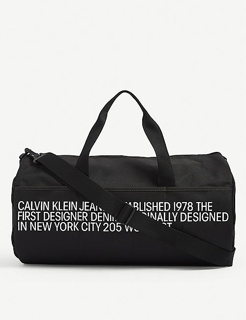 CALVIN KLEIN: CK Barrel canvas duffle bag