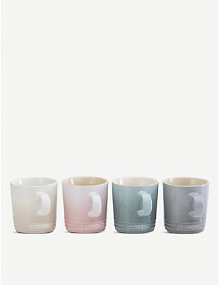 LE CREUSET: Calm Collection enamelled stoneware mugs set of four