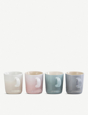 LE CREUSET Calm Collection enamelled stoneware mugs set of four
