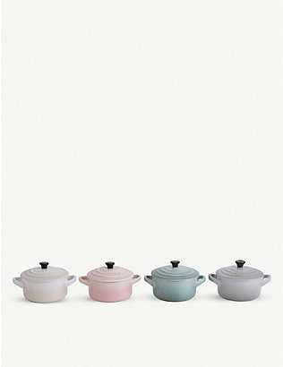 LE CREUSET: Calm Collection enamelled stoneware casserole dishes set of four