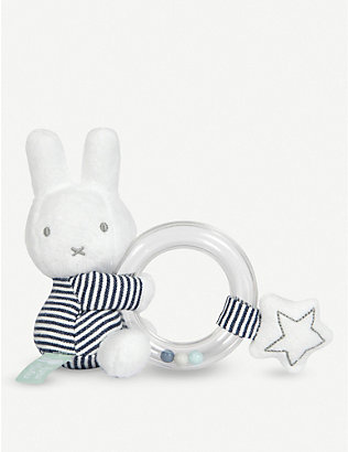 MIFFY: Miffy Stripes ring rattle 12cm
