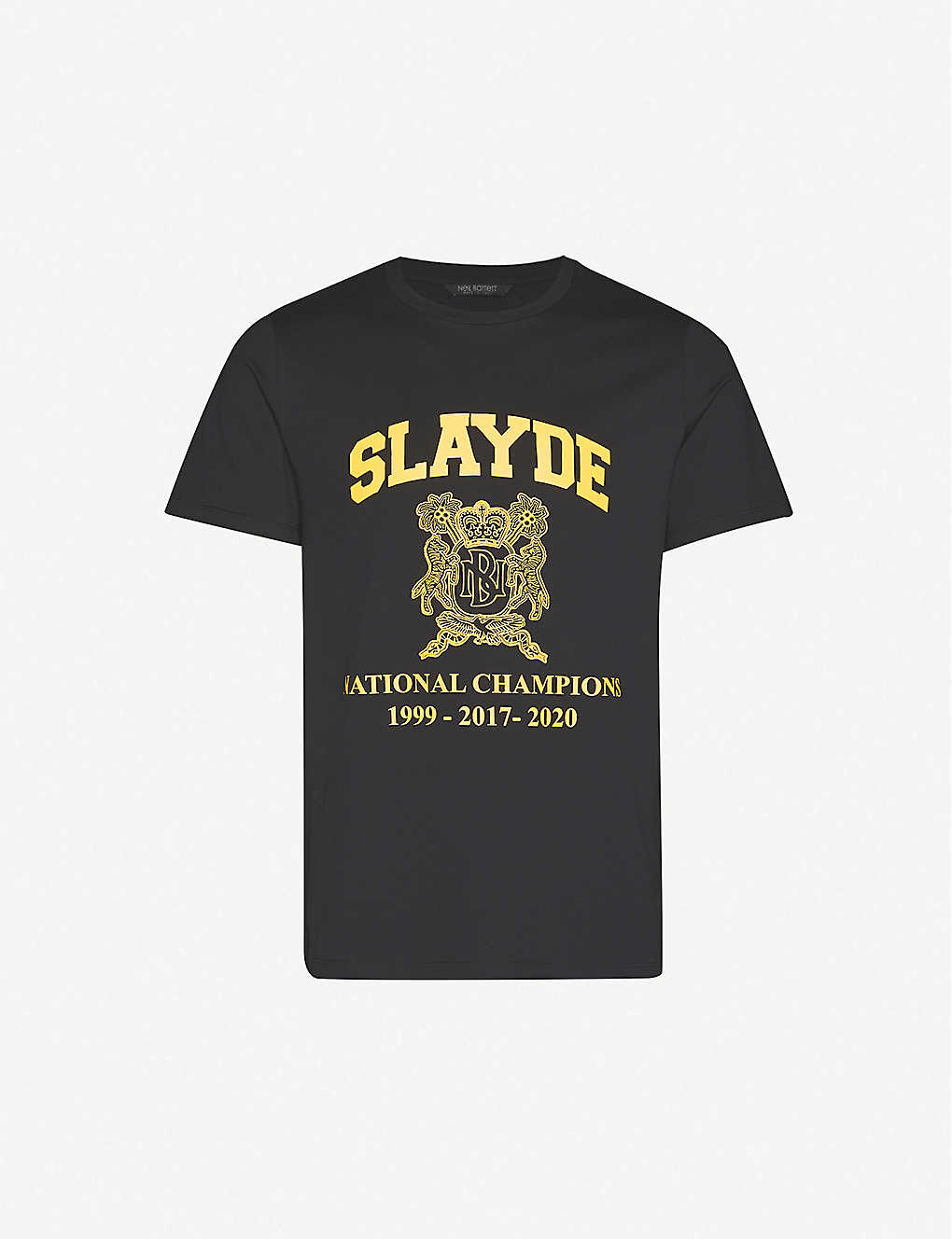 NEIL BARRETT: Slayde brand-print cotton-jersey T-shirt