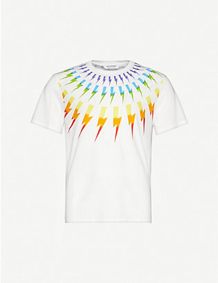 NEIL BARRETT: Graphic-print cotton-jersey T-shirt
