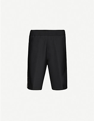 NEIL BARRETT: Contrast-tape relaxed-fit stretch-woven shorts