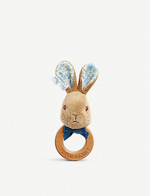 PETER RABBIT: Peter Rabbit soft plush ring rattle 15cm