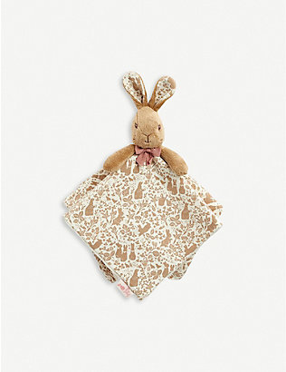 PETER RABBIT: Flopsy soft plush comfort blanket 12cm
