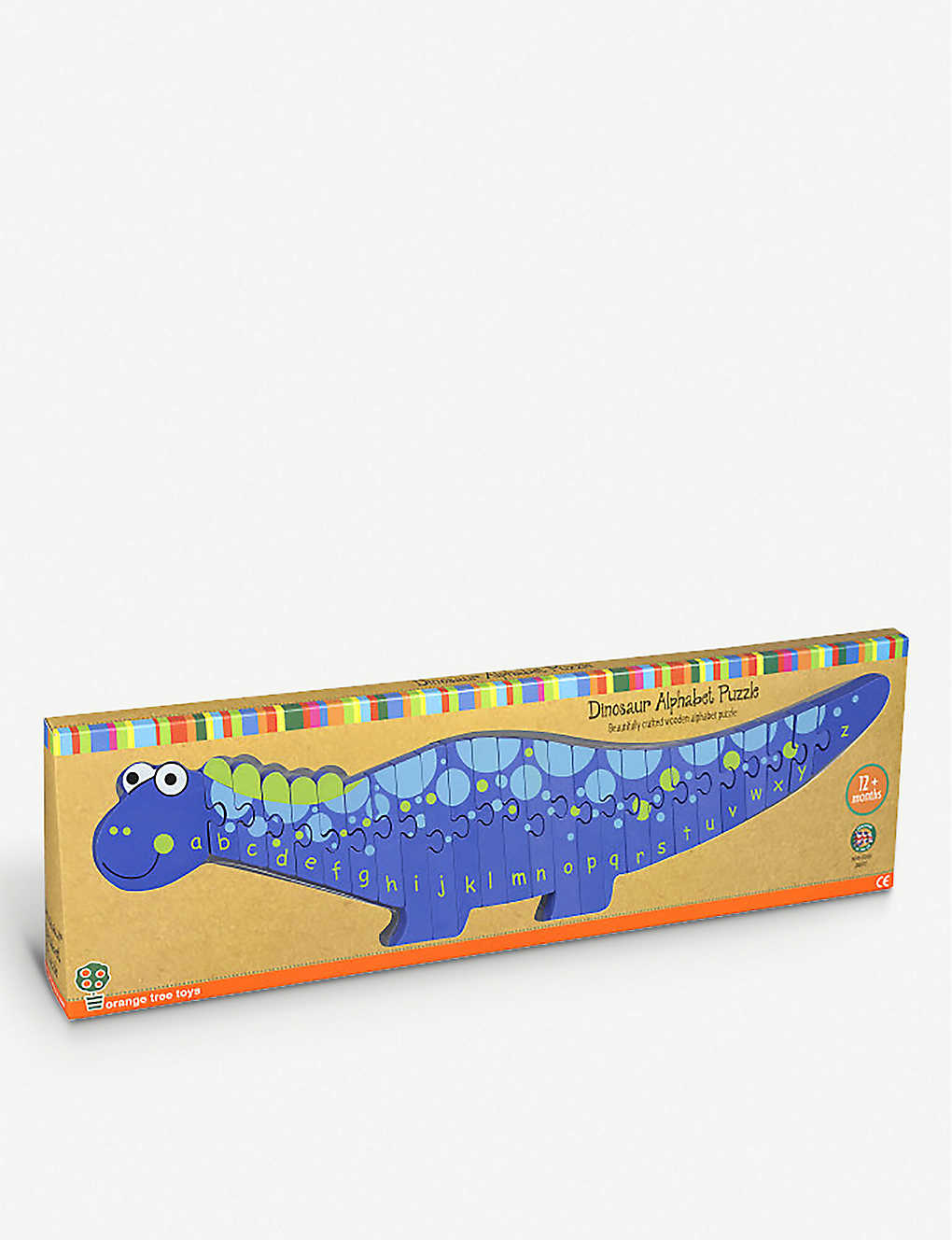 ORANGE TREE TOYS: Alphabet Dinosaur wooden puzzle