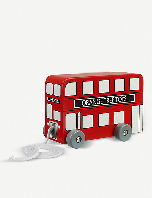 ORANGE TREE TOYS: London Bus wooden pull-along toy 14cm