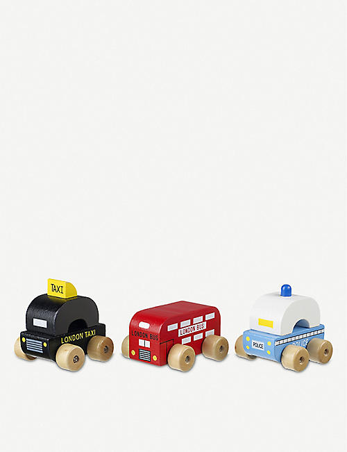 ORANGE TREE TOYS: London First Vehicles wooden toy vehicles set of three 1 years+