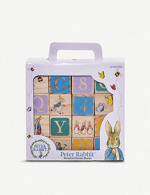 PETER RABBIT: Peter Rabbit wooden block toy set