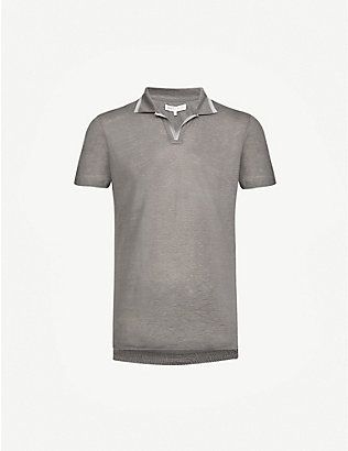 ORLEBAR BROWN: Felix linen-piqué polo shirt