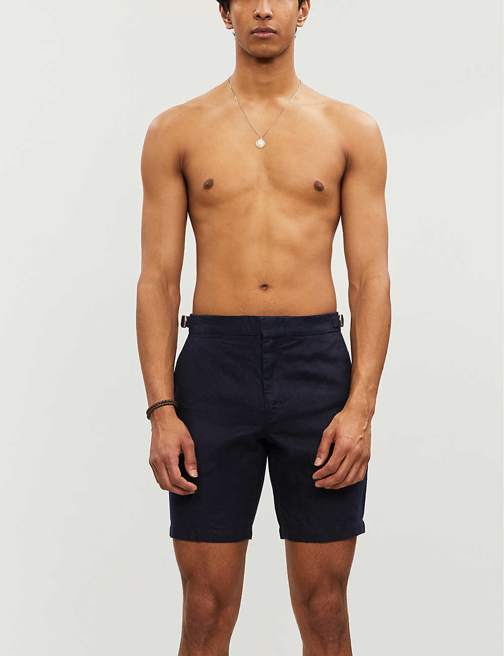 ORLEBAR BROWN: Norwich mid-rise slim-fit linen shorts