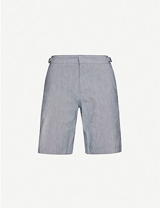 ORLEBAR BROWN: Dane mid-rise regular-fit stretch-cotton swim shorts