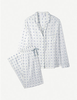 THE WHITE COMPANY: Patterned long-sleeved cotton pyjama set