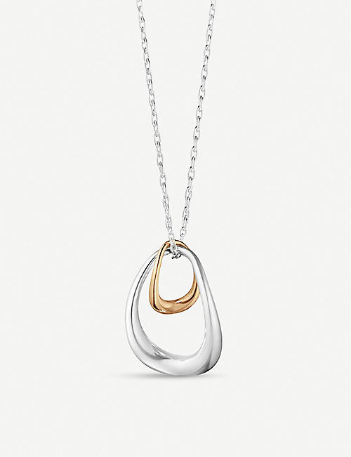 GEORG JENSEN: Offspring sterling-silver and 18ct rose-gold pendant