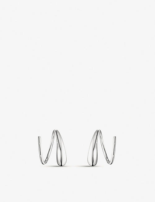 GEORG JENSEN: Mercy Swirl sterling silver earrings