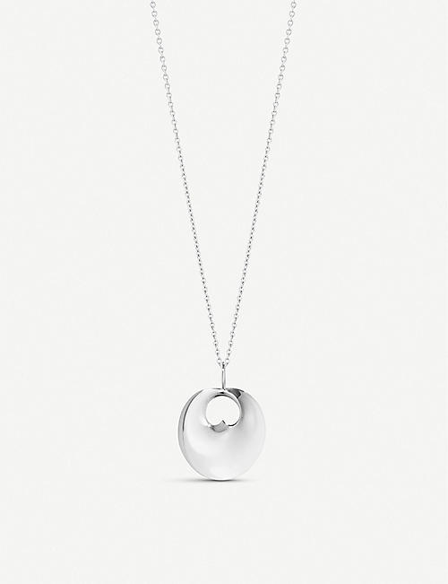 GEORG JENSEN: Hidden Heart sterling silver pendant necklace