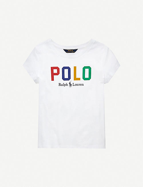 RALPH LAUREN Logo-print cotton-jersey T-shirt 2-14 years
