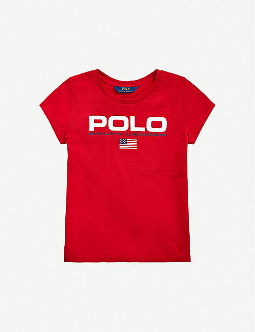 RALPH LAUREN: Logo-print cotton-jersey T-shirt 2-14 years