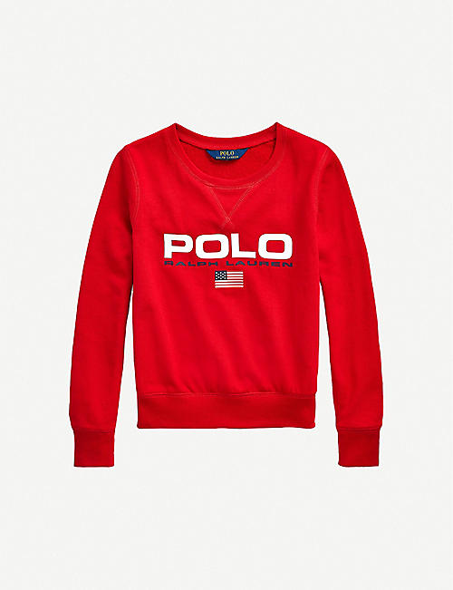 RALPH LAUREN: Logo-printed cotton-jersey sweatshirt 2-14 years