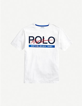 RALPH LAUREN: Logo-print cotton T-shirt 2-14 years