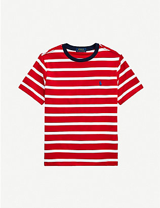 RALPH LAUREN: Striped cotton T-shirt 2-14 years