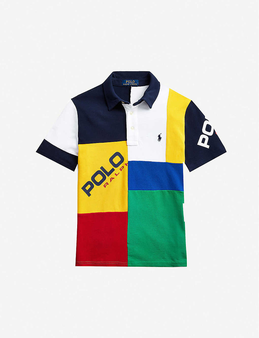 RALPH LAUREN: Colour-block cotton polo shirt 2-14 years
