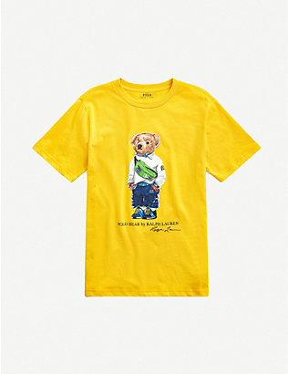 RALPH LAUREN: Bumbag-bear cotton T-shirt 2-14 years