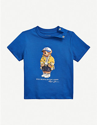 RALPH LAUREN: CP-93 Bear-print cotton T-shirt 3-24 months