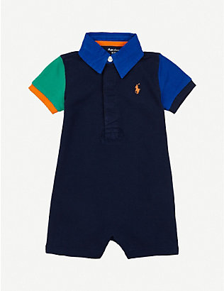 RALPH LAUREN: Rugby cotton shortall 3-24 months