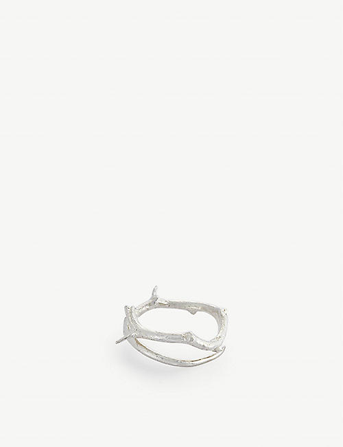 PEARLS BEFORE SWINE: Thorn sterling silver ring