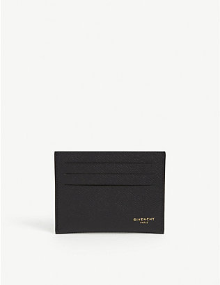 GIVENCHY: Grained leather card holder