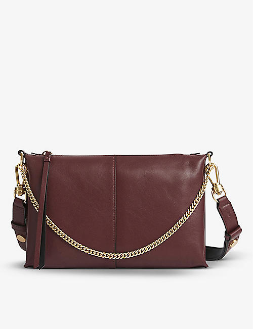 ALLSAINTS: Eve leather cross-body bag