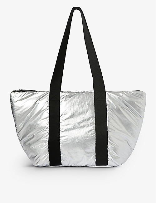 ALLSAINTS: Sly East West reversible shell tote bag
